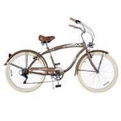 Bicicleta Psycle Cruiser Aro 26 Freio V-Brake Marrom Dropboards