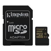 Adaptador Cartão De Memória Classe 10 Micro Sd 16Gb Uhs-I U3 Kingston