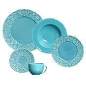 Conjunto De Jantar 20 Peças Marrakech Azul 342083 Porto Brasil