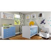 Jogo De Quarto Infantil Aconchego Azul Com Berço Art In Móveis