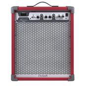 Caixa De Som Amplificada 80W Vermelho Lc450 App Frahm