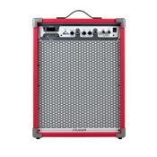 Caixa De Som Amplificada 100W Vermelho Lc650 App Frahm