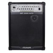 Caixa De Som Amplificada 200W Preta Mp2000 App Frahm