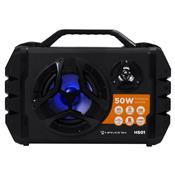 Caixa De Som Portátil 50W Bluetooth Microsd Usb Fm Preta Hs01 Hayonik