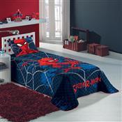 Colcha Solteiro Matelassê Spider Man Azul Marinho Lepper
