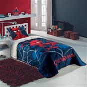 Edredom Solteiro Spider Man 1.5X2m Azul Marinho Lepper