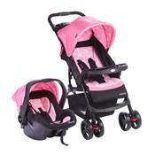 Carrinho De Bebê Moove Rosa Trama Até 15Kg D6-Ts Cosco