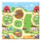 Tapete De Atividades Infantil Busy Farm 1.25M Verde Safety 1S