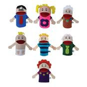 Conjunto De Fantoches Família Com 7 Personagens Em Feltro Papo De Pano