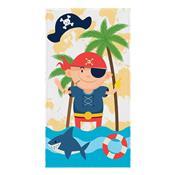Toalha De Banho Infantil Felpuda Pirata 60Cm X 1.10M Lepper