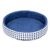 Cama Redonda Para Cachorro M Azul Fábrica Pet
