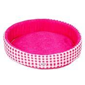 Cama Redonda Para Cachorro M Pink Fábrica Pet
