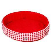 Cama Redonda Para Cachorro P Vermelha Fábrica Pet