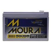 Bateria Moura 12Mva12 Estacionária Nobreak 12V 12Ah Centrium Energy