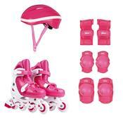 Kit Roller Com Acessórios De Segurança 34 Ao 37 Rosa 40600103 Mor