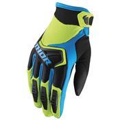 Luva Para Motocross Spectrum Malha Verde E Azul Thor