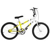 Bicicleta Rebaixada Aro 20 Amarelo E Branco Ultra Bikes