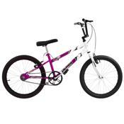 Bicicleta Rebaixada Lilás E Branca Aro 20 Pro Tork Ultra