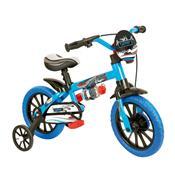 Bicicleta Infantil Veloz Aro 12 Preta E Azul Nathor