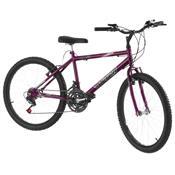 Bicicleta 18 Marchas Aro 24 Lilás Pro Tork Ultra