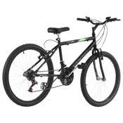 Bicicleta 18 Marchas Aro 24 Preto Fosco Pro Tork Ultra