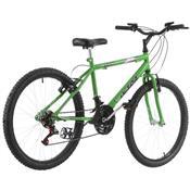 Bicicleta 18 Marchas Aro 24 Verde Kw Pro Tork Ultra
