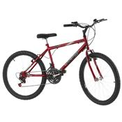 Bicicleta Vermelha Aro 24 18 Marchas Carbono Pro Tork Ultra