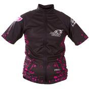 Camisa Para Ciclismo Bike Line Girls Preta E Rosa Ultra Bikes