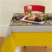 Toalha De Mesa Gourmet Retangular 1.4X2.2M Amarela Lepper