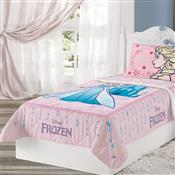 Edredom De Solteiro Frozen 1.5X2m Rosa Lepper