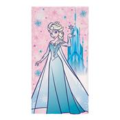 Toalha De Praia Infantil Aveludada Frozen Rosa Lepper