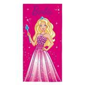 Toalha De Praia Aveludada Barbie Reinos Mágicos Pink Lepper