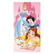 Toalha De Praia Infantil Aveludada Princesas Rosa Lepper