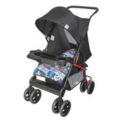Carrinho De Bebê Tithus Até 15 Kg Preto E Azul Tutti Baby