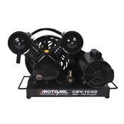 Compressor De Ar Direto 2Hp Trifásico Preto 220/380V Cmv-10/Ad Motomil