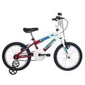 Bicicleta Infantil Ocean Aro 16 Branca E Vermelha Verden Bikes