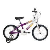 Bicicleta Infantil Brave Aro 16 Branca E Violeta Verden Bikes