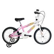 Bicicleta Infantil Brave Aro 16 Branca E Rosa Verden Bikes