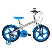 Bicicleta Infantil Rock Aro 16 Prata E Azul Verden Bikes