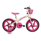 Bicicleta Infantil Fofys Aro 16 Bege E Fucsia Verden Bikes
