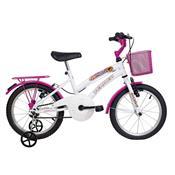 Bicicleta Infantil Breeze Aro 16 Branca E Pink Verden Bikes