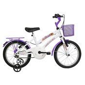 Bicicleta Infantil Breeze Aro 16 Branca E Lilás Verden Bikes