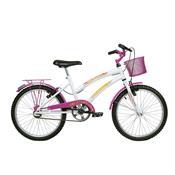 Bicicleta Feminina Breeze Aro 20 Branca E Pink Verden Bikes