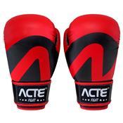 Luvas De Boxe E Muay Thai Em Couro De Pu Vermelha Acte