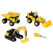 Brinquedo Montagens De Veículos 3 Em 1 Cat Apprentice Dtc