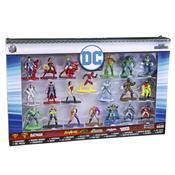 Conjunto De 20 Bonecos Liga Da Justiça Dc Comics Metal Nano Dtc