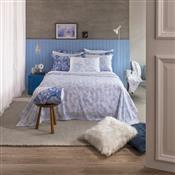 Kit Cobre Leito Solteiro Azul Elisa 2 Pçs Home Design Santista
