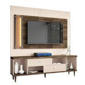 Painel Harmonize Para Tv Até 55 Pol Off White E Deck Hb Móveis