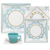 Aparelho De Jantar Porcelana 30 Peças Domo Gm30-2459 Oxford