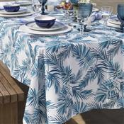 Toalha De Mesa Home Design Quadrada 160X160cm Tropical Azul Santista